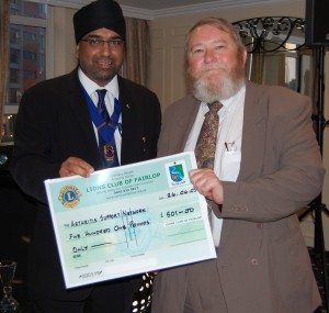 £501 to the Arthritis Support Network