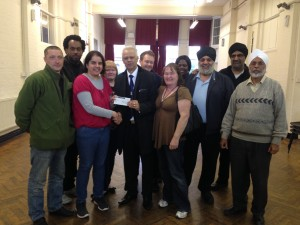 Cheque Presentation to RAMFEL