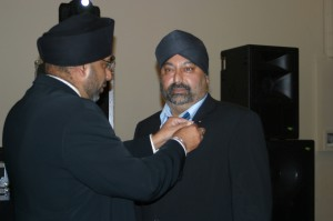 Lion Rana receiving his 10 year service award
