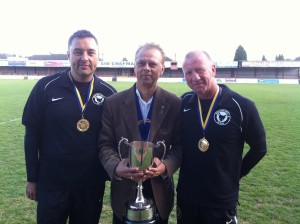 LP Paul with the 2 coaches and cup